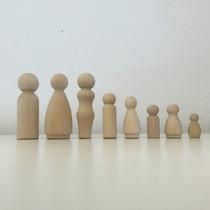 Muñeco Madera Didactico Figura Waldorf Manualidades Juguetes