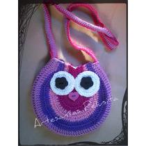 Cartera Buho Tejida Crochet Para Nenas, 100% Hecha A Mano