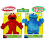 Peluches Elmo Y Cookie Monster Plaza Sesamo