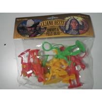 10 Muñecos Cowboys, Indios Del Lejano Oeste!!!
