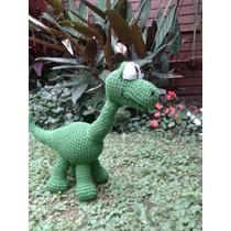 Arlo, Un Gran Dinosaurio, Tejido En Crochet. Grande, 40cm!!!