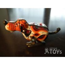 Antiguo Juguete Perrito A Cuerda Hojalata Chapa (tin Toy)