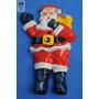 Muñeco Papa Noel Brillantina Navidad Retro Cotillon Antiguo