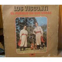 Disco Vinilo Los Visconti El Pueblo En Sus Voces.