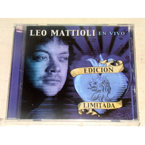 Leo Mattioli En Vivo Edicion Limitada Cd Sellado