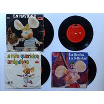 Topo Gigio - Lote X4 Discos Simples Vinilo @ 1969 Argentina