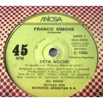 Franco Simone Esta Noche / Quiero Hacerte Simple Argentino