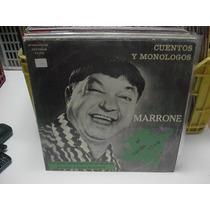 José Marrone*al Verde Vivo*cuentos Y Monólogos*lp Argentina