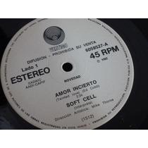 Soft Cell Amor Incierto Entretenme Vinilo Argentino Promo
