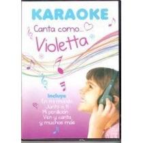 Karaoke Canta Como Violetta - Dvd