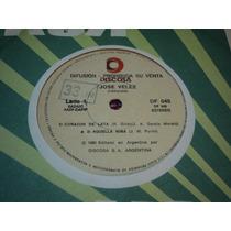Disco Simple De Jose Velez - Corazon De Lata / Aquella Niña