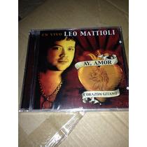 Leo Mattiolli-ay Amor-cd Nuevo+cupones Chorros De Regalo!!