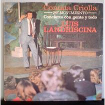 Disco Lp Luis Landriscina Cantata Criolla Humor Chistes 1975