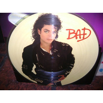 Michael Jackson Bad Picture Disc Vinilo Lp Usa Original 1987