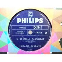 Horacio Guarany Vinilo Ep Si Se Calla El Cantor