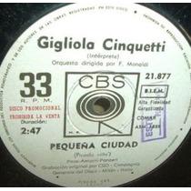 Gigliola Cinquetti Pequeña Ciudad Simple Argentino Promo