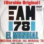 Argentina Campeon - Simple Vinilo Marcha Mundial - Año 1978