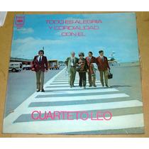 Cuarteto Leo Todo Es Alegria Y Cordialidad Lp Argentino