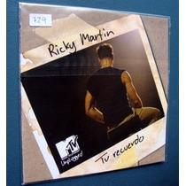 Ricky Martin - Te Recuerdo - Cd Single Promo