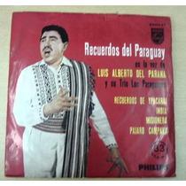 Luis Alberto Del Parana Recuerdos Paraguay Simple C/tapa Arg