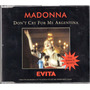 Madonna Don`t Cry For Me Argentina Single Cd 3 Tracks German