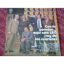 Disco Vinilo Cuarteto Leo - Con Tu Permiso ... Aqui Esta Leo