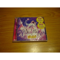 Violetta En Vivo Cd + Dvd Nuevo Disney Pop