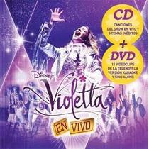 Violetta En Vivo Cd + Dvd Novedad !! 2013