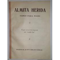 Antigua Partitura Almita Herida - Cobian