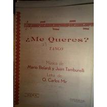 Partitura Tango Piano ¿me Queres? Belardi -tamburelli - Mir