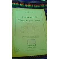 Ejercicios Tecnicos Para Piano Liszt Partitura Envios Mdq