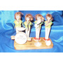 Los Beatles , Muñecos Antiguos De Madera