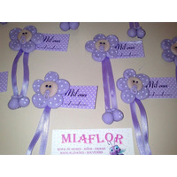 30 Souvenirs Nacimiento Flores Imanes En Porcelana Fria