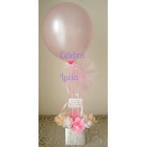 Ramo De Flores Centro De Mesa Nacimiento 1° Año Baby Shower