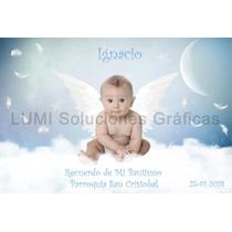 Tarjetas De Bautismo, Estampa Con Foto 20 Unid. 8x12 Cm
