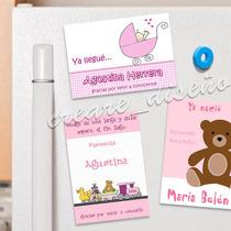 10 Souvenirs De Nacimiento Babyshower Cumple Imanes Beba