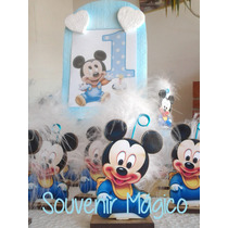 Souvenir Mickey Bebé Fibrofacil. Entrega Inmediata!!! 25 Uni