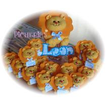 Souvenirs Nacimiento Baby Shower Leones X 10 Unidades