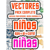 Vectores Pack Nenes + Nenas ++eps++ai++corel
