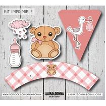 Kit Imprimible Baby Shower Nena