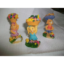 Souvenirs Cumpleaños Nacimiento Conejito Poliresina X 18