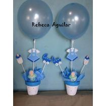 Centro De Mesa Baby Shower Para Nene