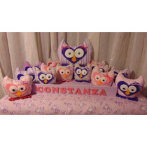 Souvenirs Baby Shower Nacimiento Buhos Perfumados X 25 Unid.