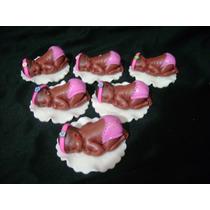 Souvenirs Bebé X10 Porcelana Fria Nacimientos, Bautismos.-