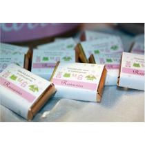 50 Chocolates Personalizados Grandes 7x 5 Cm Medida 8 Grs !!