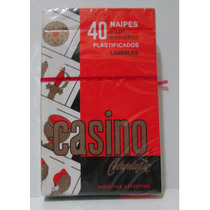 Naipes Cartas Casino X 40 Plastificados Lavables Español