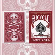 Cartas Bicycle Skulls & Bones Back - Roja