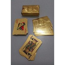 Hermosas Cartas De Poker Enchapadas En Oro 24k Certificadas