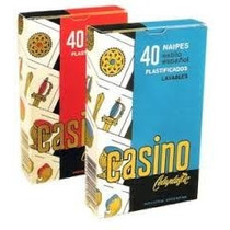 Naipes Casino 40 Cartas Estilo Español Plastificadas Lavable