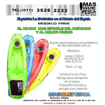 Kayak Kayaxion Free Remo Tapa Baul C. Elastico Super Estable